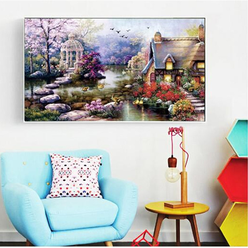 Buy cna 5d diy diamond painting round for Home decor 5d