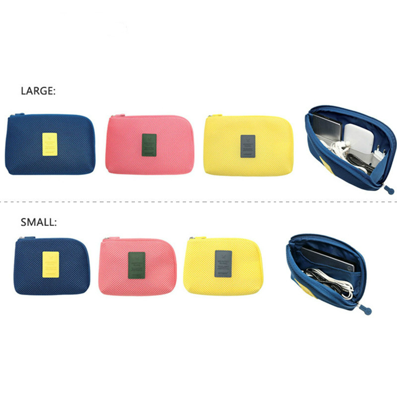 Creative Shockproof Travel Digital USB Charger Cable Earphone Case Makeup Cosmetic Organizer Accessories Bag Wholesales