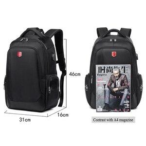 Image 5 - RUISHISABER Brand New 15 inch Laptop Backpack Women USB Charging Travel Backpack Men Oxford Waterproof Backpacks School Mochila