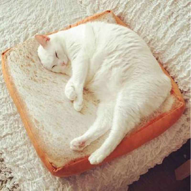 Hot 40*40CM Creative Toasted Bread Pillow Plush Toys Soft White Bread Cushion Kids Birthday Gift Home Bakery Shop Decoration
