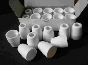 Image 1 - 40Amp Air Plasma Cutting Ceramic Shield Cup for CUT40D CUT50D PT 31 LG40 Torch Gun 20pcs
