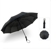 Hot Selling Fully-automatic Folding Sunny and Rainy Umbrella Business Black Golf Men Windproof Anti-UV
