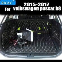 RKAC автомобиля обычай ствол коврики для универсал Фольксваген Пассат b8 2015 2016 2017 Водонепроницаемый ковры Коврики для багажника аксессуары для интерьера