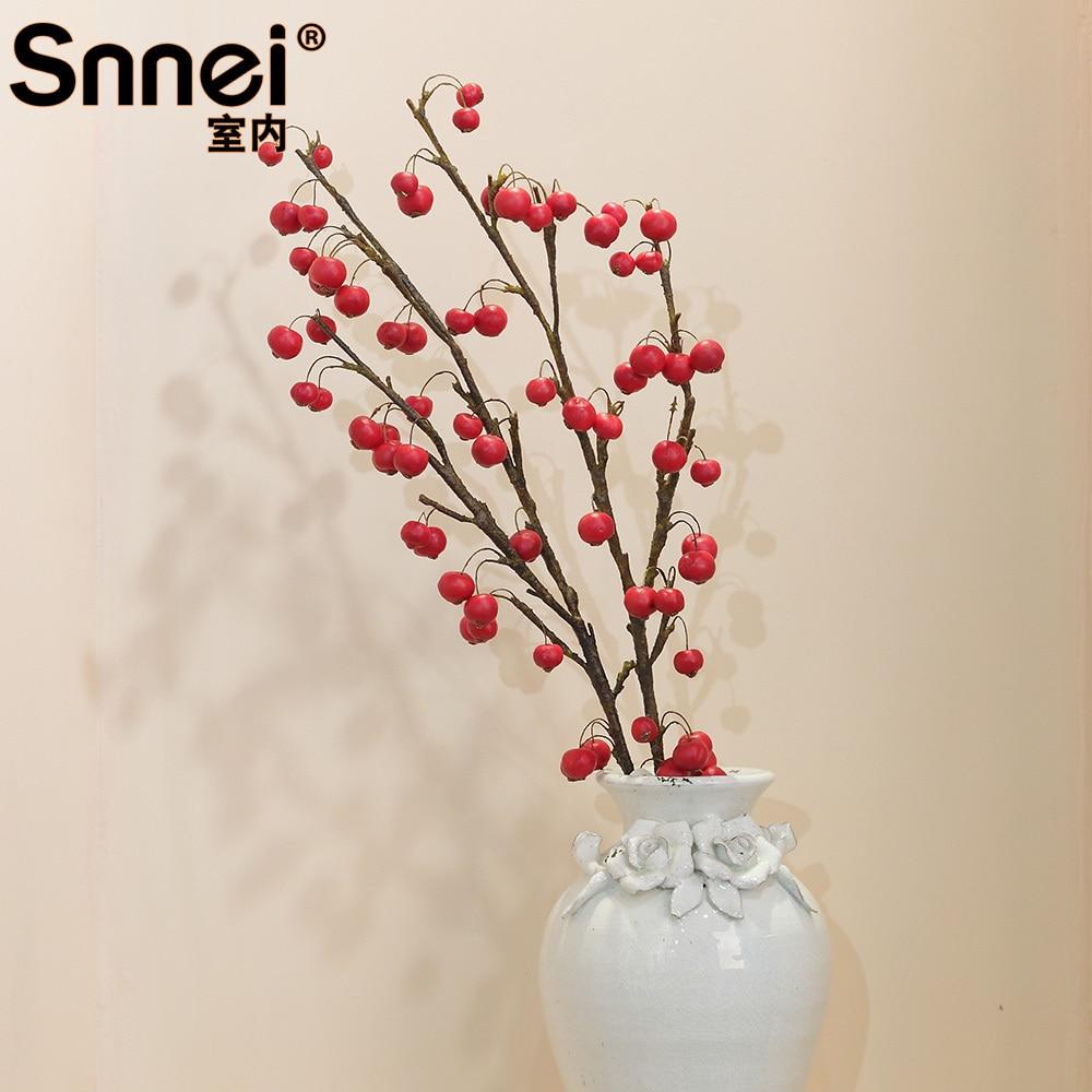 Snnei indoor artificial plants apple trees upscale living room floor ...