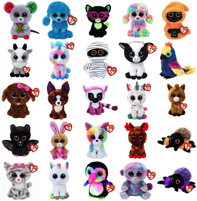 Ty Beanie Boos Cute Owl Monkey Unicorn Plush Toy Doll Stuffed   Plush  Animals 6