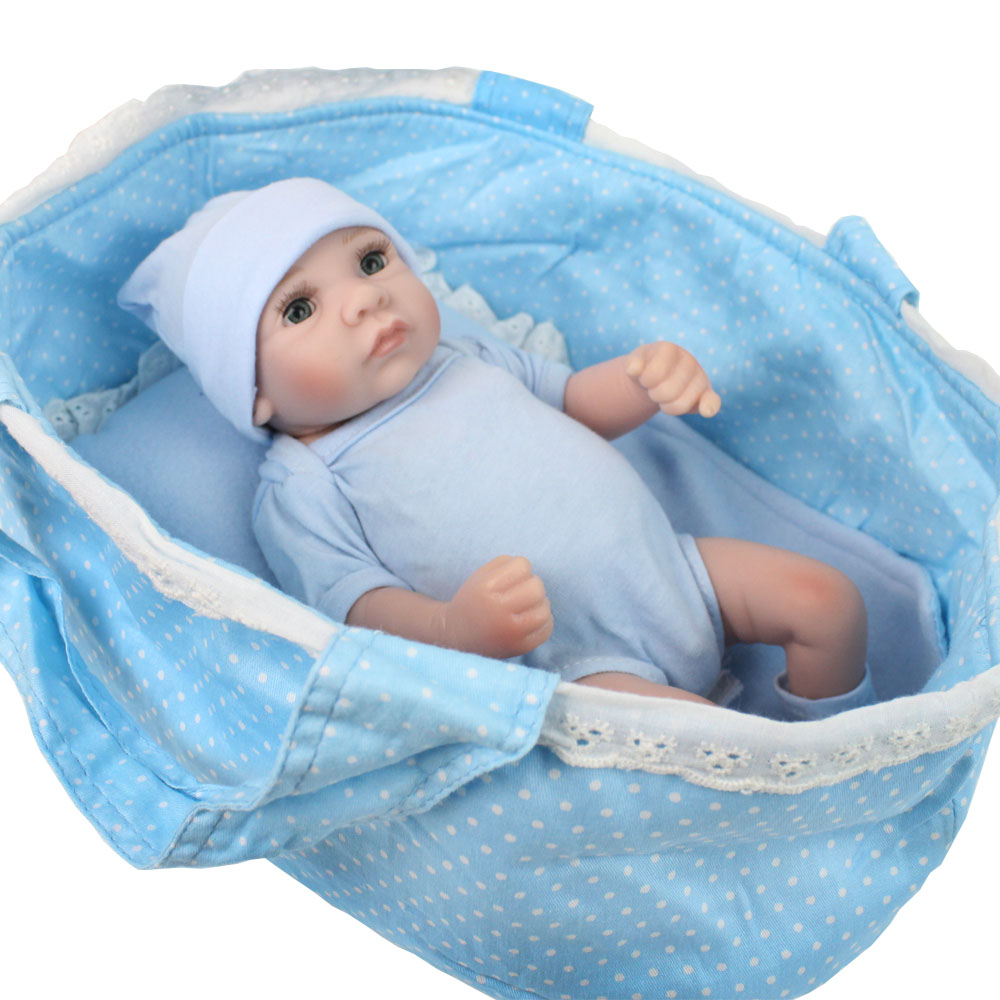 NPKDOLL COLLECTION 10 Inches Handmade bebe reborn corpo de Silicone boneca Toys For Girls 28 CM Dropshipping Kids Gift