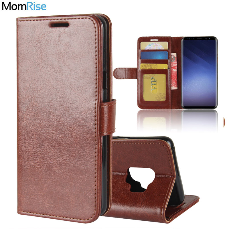 free shipping 4668a 48941 US $3.82 15% OFF|Premium Vintage Leather Book Flip Folio Cover For Samsung  Galaxy S9 S9 Plus Case Wallet KickStand Card Photo Handmade Phone Bags-in  ...