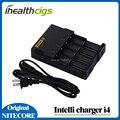 Original Nitecore i4 Digi pantalla LCD cargador Universal cargador Nitecore i4 Cable del cargador de batería cargador de batería
