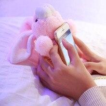 Прекрасные Милые 3D Кролик Кукла Плюшевые Игрушки Сотовый Телефон Случаях Для iPhone 6 6 S 6 Плюс Телефон Мешки для iPhone 7 7 Plus Назад Крышку Корпуса(China (Mainland))