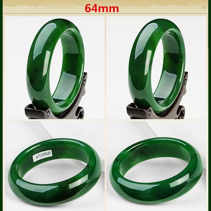 AAA красивый женский браслет китайский зеленый резной браслет 54 мм-65 мм KYY8737 - Окраска металла: 64mm