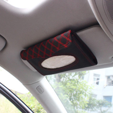 Car visor tissue box car accessories PU