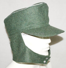 WWII GERMAN WH OFFICER M43 PANZER WOOL FIELD CAP GRÖßE L-31734