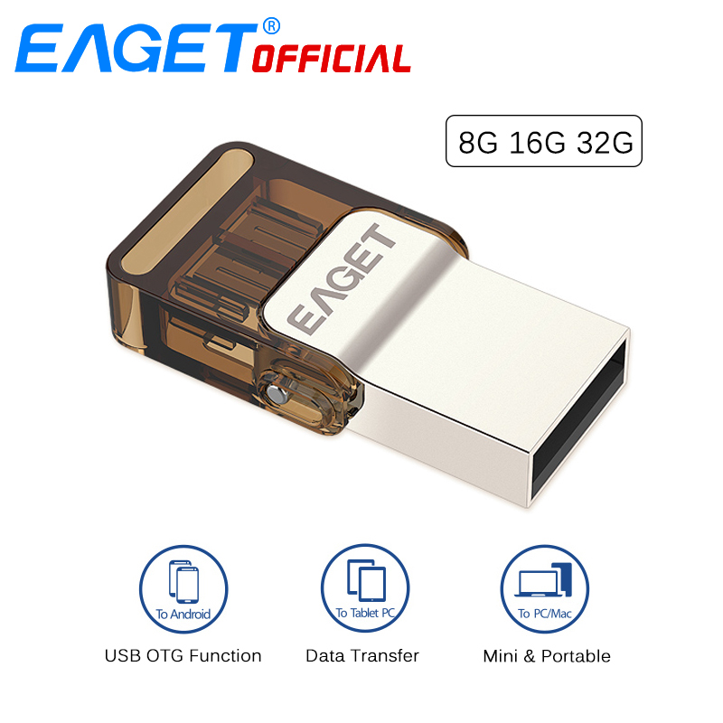 Clever Eaget Micro Usb Otg Usb-sticks Pen Drive 32g-stick 16 Gb 8 Gb Memory Stick Externe Speicher Für Xiaomi Telefon Laptop Pc Buy One Give One