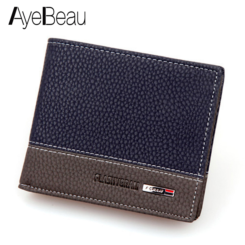 Business-Card-Holder Money-Bag Portomonee Male Purse Men Wallet Walet Small Kashelek