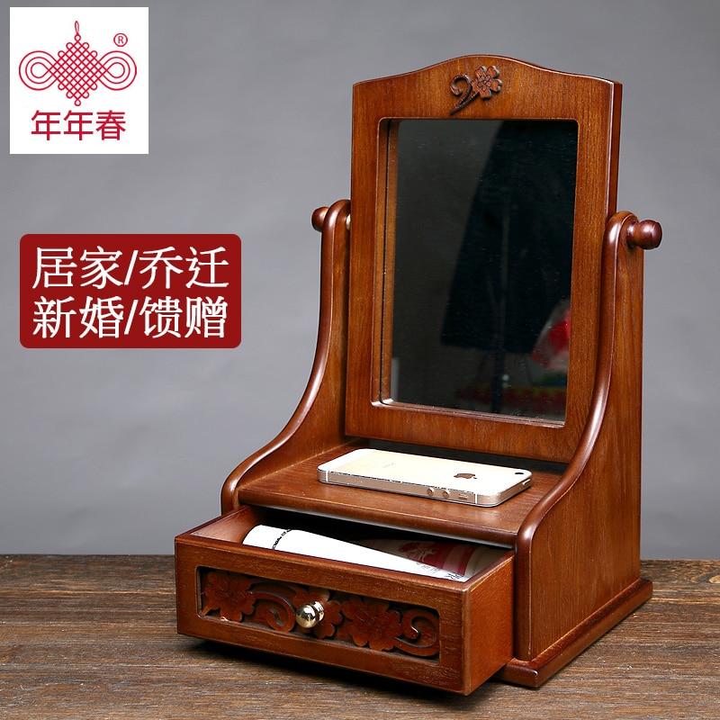 Online Get Cheap Wood Mirror Jewelry Organizer Aliexpresscom