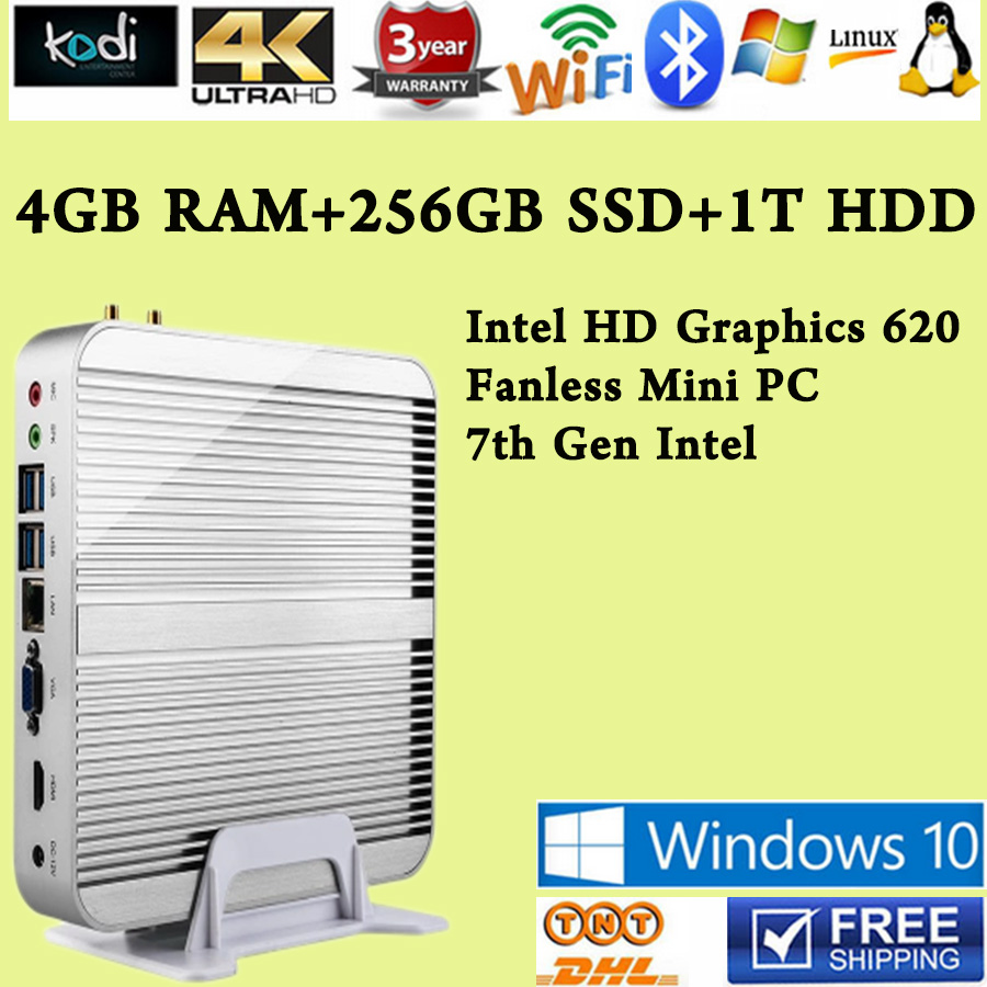 7th Gen Intel Core i5 7200U 4GB RAM 256GB SSD 1T HDD Win10 Mini PC Max