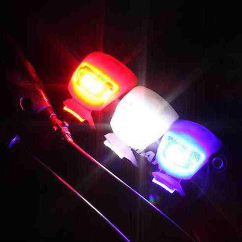 Wasafire Baru Sepeda Lampu Depan Roda Belakang Lampu LED Flash Lampu Keselamatan Silikon Bersepeda Lampu 1PC Farol Sepeda aksesoris