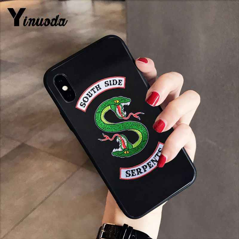Yinuoda Riverdale South Side Serpents DIY Printing Drawing Phone Case for iPhone 5 5Sx 6 7 7plus 8 8Plus X XS MAX XR 10 Case