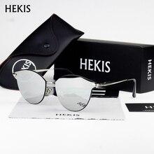 Hekis Модные женские «кошачий глаз» классические Брендовая Дизайнерская обувь солнцезащитные очки 5935