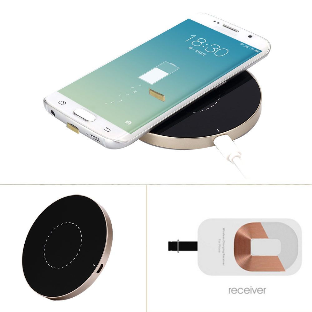antye qi wireless charger for iphone 6 6s 6plus 6s plus including qi wireless charging card and. Black Bedroom Furniture Sets. Home Design Ideas