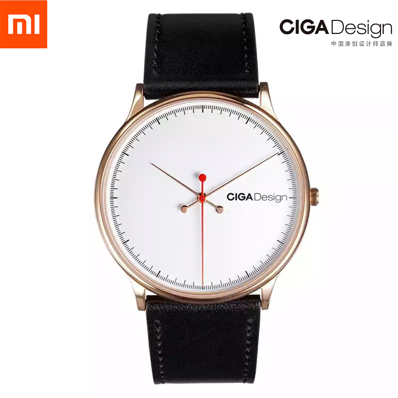 Men's Watch S Series Xiaomi CIGA Design Wristwatch Reddot Winner Watch Fashion Simple Retro Leisure Leather Couple Quartz Clock