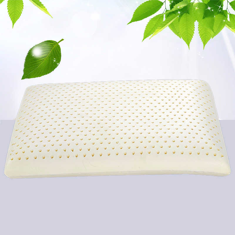 Peter Khanun Natural Latex Adult Bedding Cervica Vertebrae Massage Pillow Health Neck Bonded Head Care Memory Pillow 3 Sizes 023