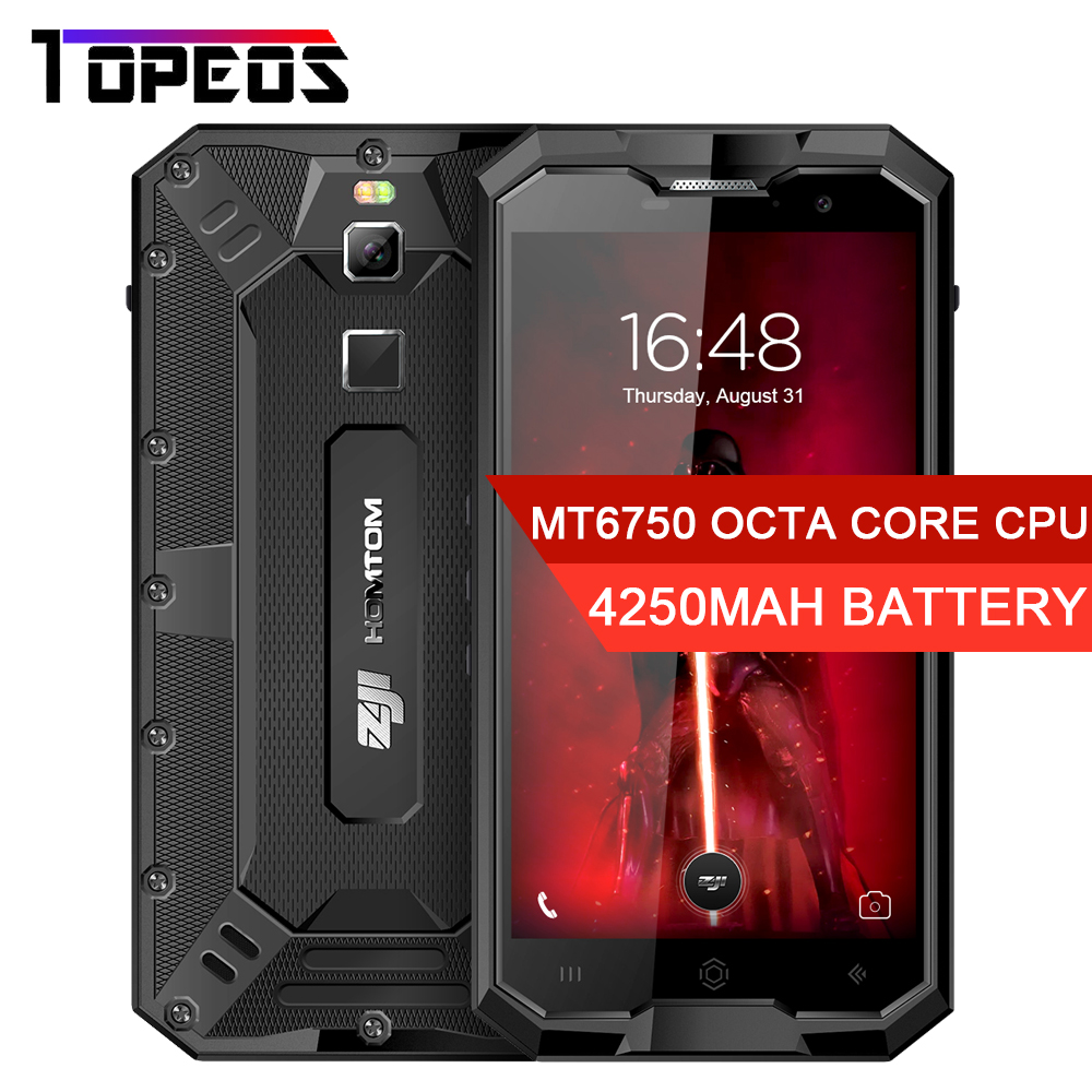 "HOMTOM ZOJI Z8 IP68 Waterproof 4G Smartphone 5.0"" MTK6750 Octa Core Android 7.0 4GB+64GB 4250mAh 13MP Fingerprint Mobile Phone"