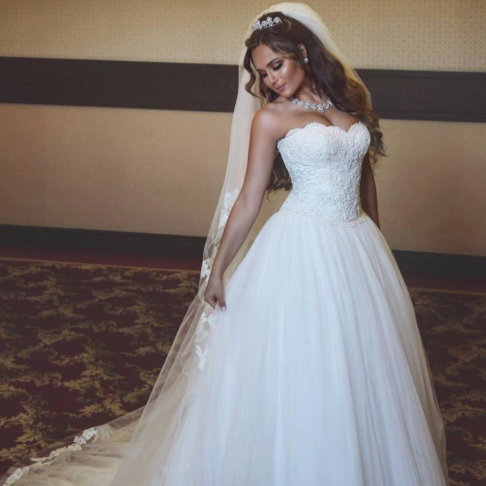 Lace Wedding Gown Designer: Simple Designer Bridal Gown With Pearls Off Shoulder