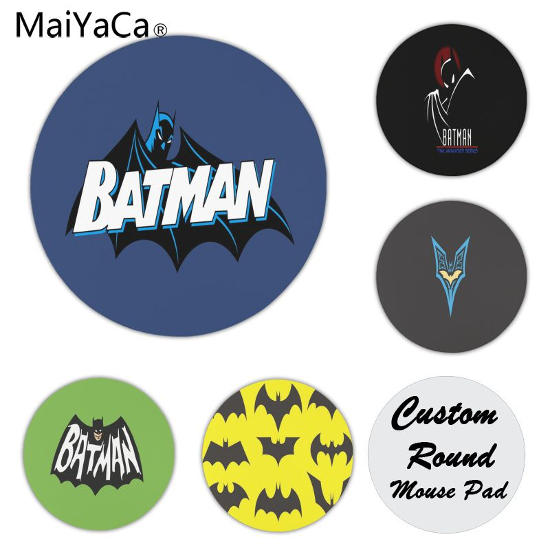 MaiYaCa My Favorite Batman Customized laptop Gaming mouse pad Size for 20x20cm 22x22cm Rubber Round Mousemats ...