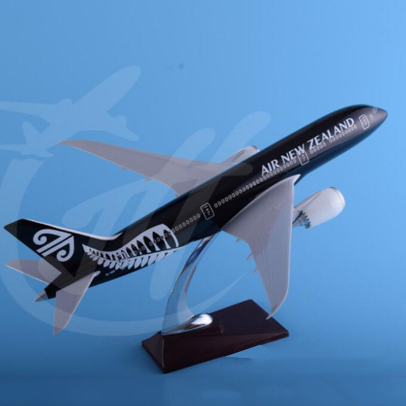 43cm 1/145 Scale  Airplane Boeing B787 Dreamliner Aircraft Black New Zealand Airlines Model With Base Diecast Plastic Resin Plan43cm 1/145 Scale  Airplane Boeing B787 Dreamliner Aircraft Black New Zealand Airlines Model With Base Diecast Plastic Resin Plan