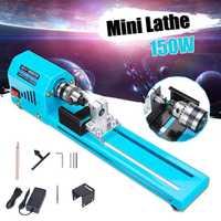 7 niveau Regelbare Snelheid 150W Max 7000RPM Rate Mini Draaibank Kralen Machine Polijstmachine Tafel Zag Mini DIY Hout draaibank Kit Accessoire