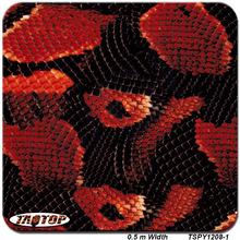 TSPY1208-1 popular pattern red snake skin Hydrographic Film  PVA Water Transfer Printing Film