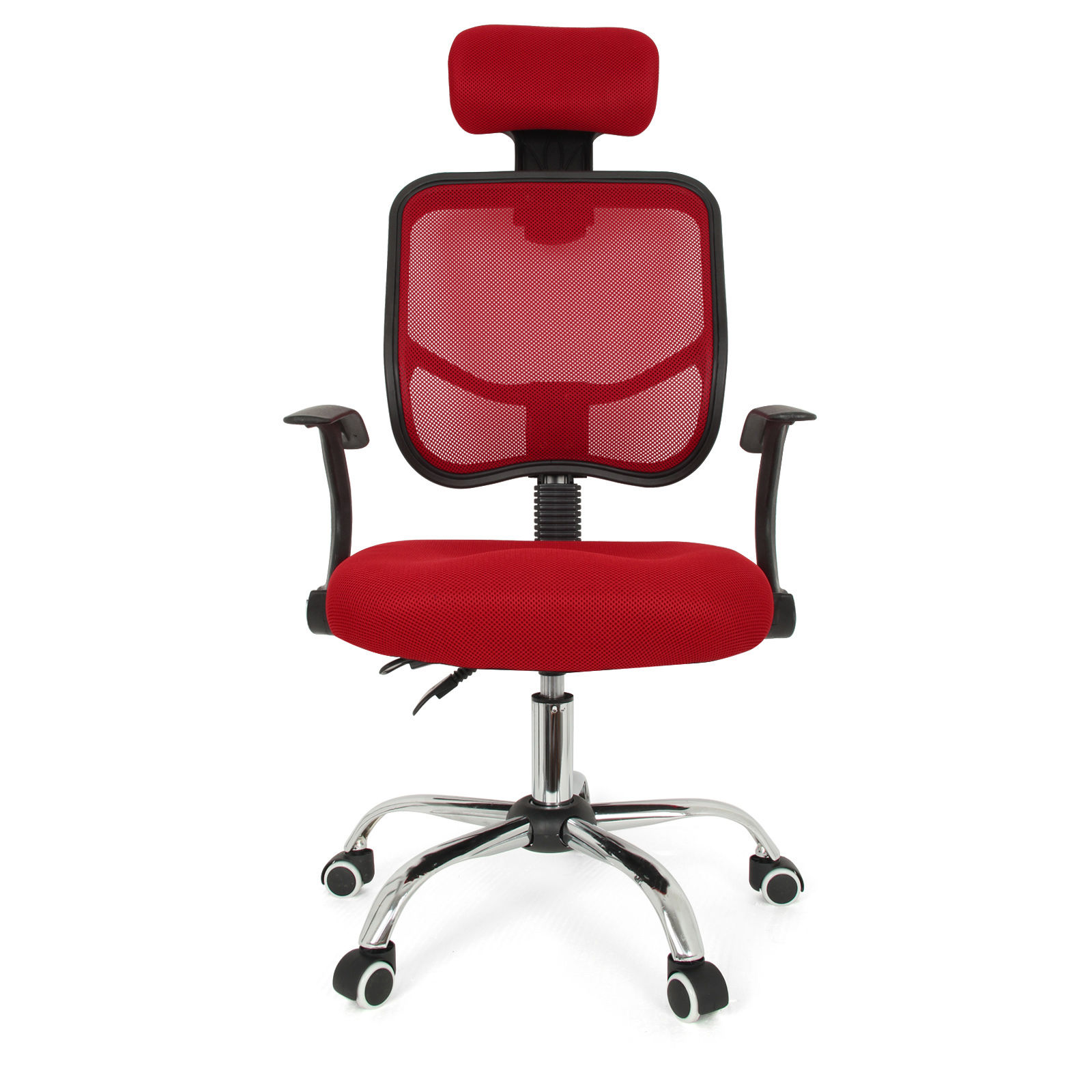 NOCM Seat Height Adjustment fice puter Desk Chair Chrome Mesh