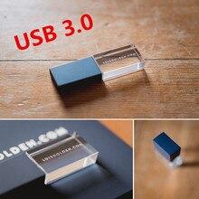 משלוח לוגו חדש אלגנטי מותאם אישית לוגו במהירות גבוהה USB 3.0 זיכרון פלאש מקל Pendrive (ברירת מחדל לא led אור)