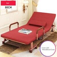 80 см Широкий раскладная кровать с матрасом Мебель для спальни раскладные гостя кровать для взрослых и детей Портативный металлический скла