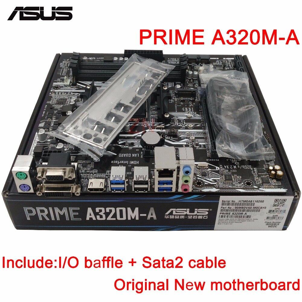 original New Desktop motherboard ASUS PRIME A320M-A mother board Socket AM4 4*DDR4 3200/2933/2666/2400 MHz support 64G 8*SATA3 цена