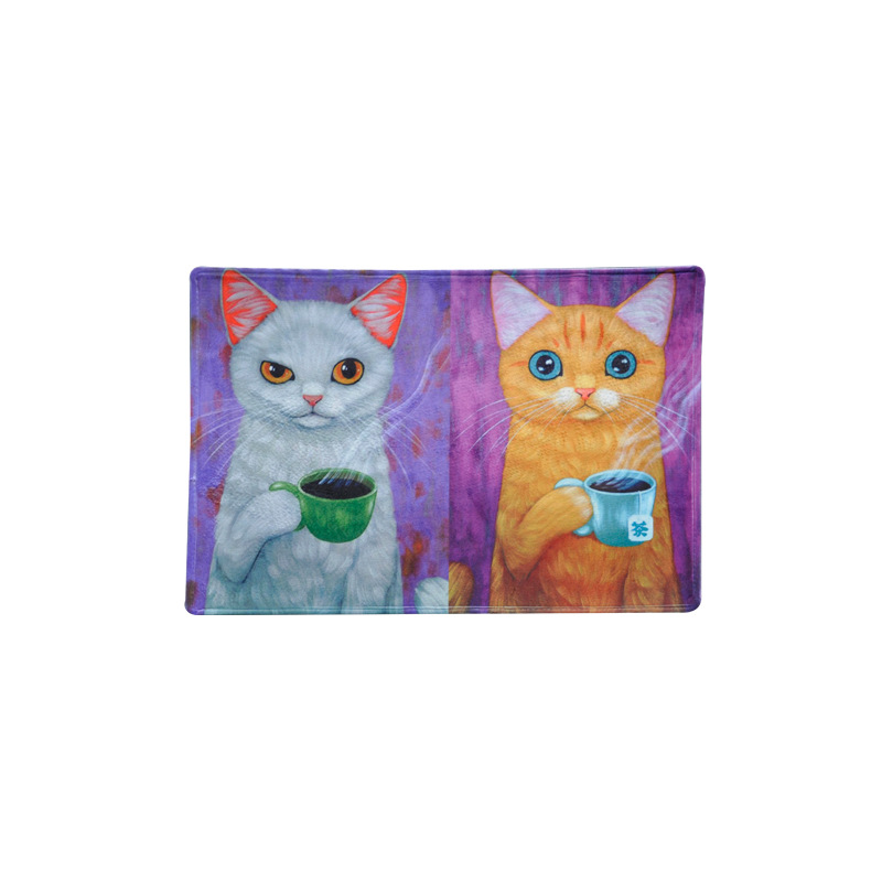 100% QualitäT Nette Cartoon Katze Drucken Matte Teppich Super Weiche Flanell Teppich Absorbent Fußmatte Bereich Teppiche Anti-slip Teppiche Boden Matte Für Wohnkultur
