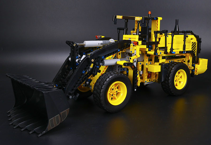 Hot Technic Series Volvo L350F Wheel Loader Model Building Kit Blocks Bricks Compatible Lepins Figures Toy Educational Gifts odeon light потолочный светильник odeon light solario 3560 18l