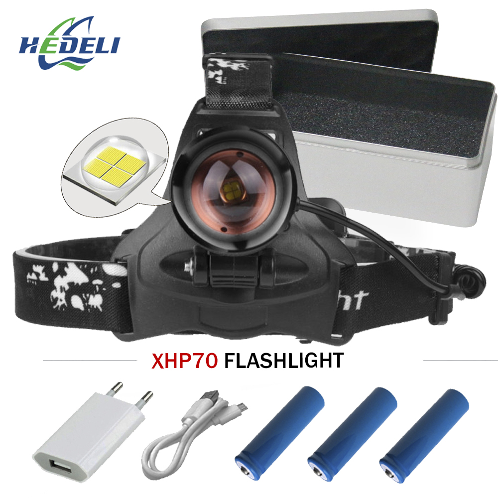 powerful Led head lamp xhp70 rechargeable led headlamp xhp 70 cob t6 head torch flashlight 18650 battery waterproof headlight 30w led cob usb rechargeable 18650 cob led headlamp headlight fishing torch flashlight