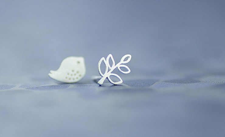 Fashion Mencegah Alergi Burung Daun Anting-Anting Anting-Anting untuk Wanita Pengantin Pernikahan Anting-Anting Perhiasan Aksesoris EH559