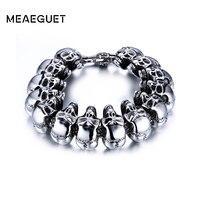 New Rock Men Skull Bracelet Jewelry Stainless Steel Bracelets Bangles For Men Party Jewelry Wholesale Bracelets