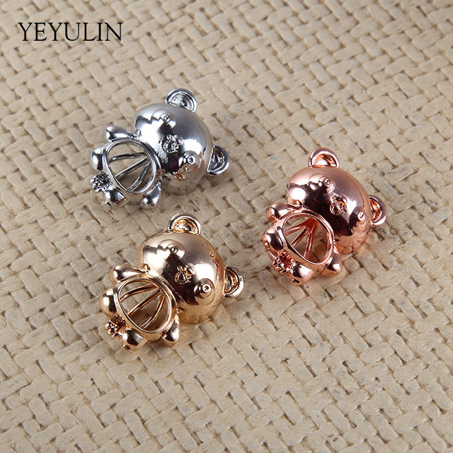 Wholesale trendy silver gold color cartoon bear cu bead cage pendant wholesale trendy silver gold color cartoon bear cu bead cage pendant charms for making jewelry diy aloadofball Gallery