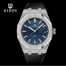 Watch men luxury brand DIDUN Quartz watches Steel Military Watches clock men 30M Waterproof leather Wristwatch