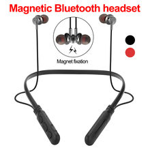 цена на Bluetooth Wireless Earphone Bluetooth headset Sports In Ear Magnetic Wireless Earbuds Earpiece With Mic For Mobile Phone