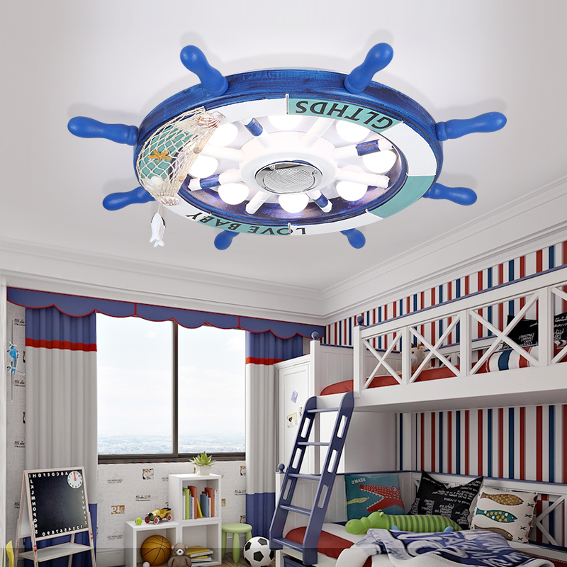 Us 77 52 24 Off The New Mediterranean Rudder Led Children Bedroom Light Contracted And Contemporary Absorb Dome Lamp Good Friend In