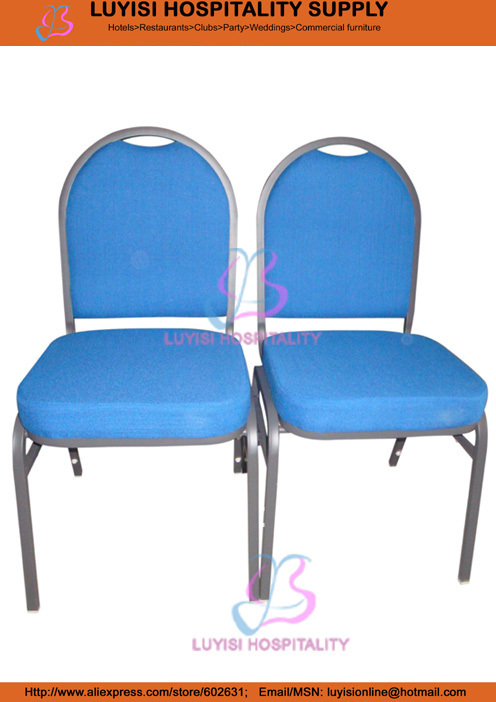 Stacking Steel Chair With Metal Hook LUYISI1079BL