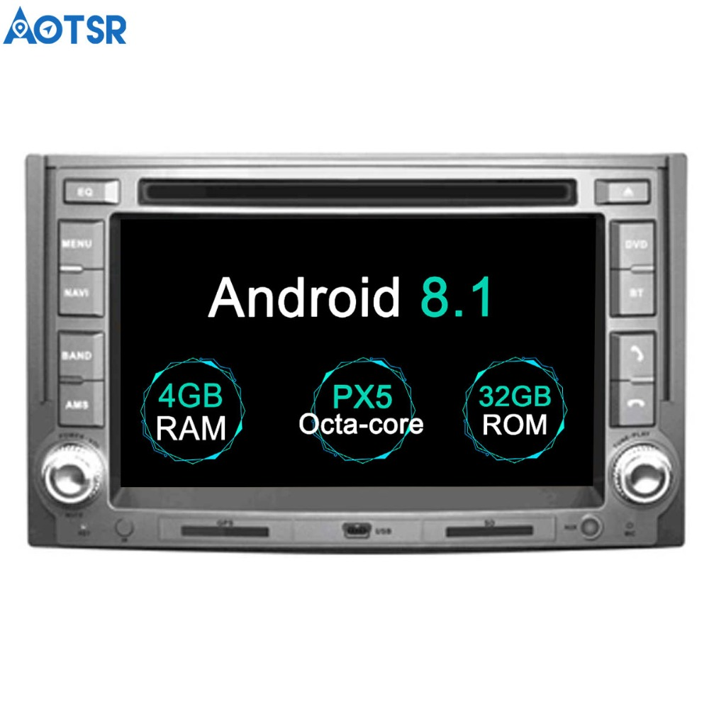 Aotsr Android 8,1 gps навигация dvd-плеер автомобиля для IMAX ILOAD 2008 + H1 2007 + Мультимедиа 2 din радио рекордер 4 GB + 32 GB 2 GB + 16 GB
