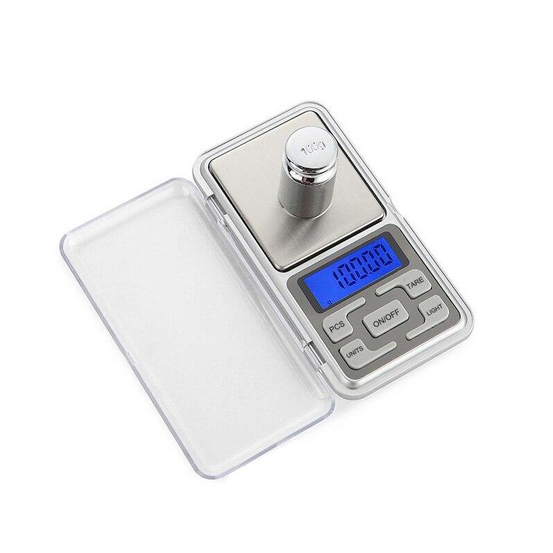 500g 0.01g Digital Pocket Gram Scale Jewelry Weight Electronic Balance Scale EN