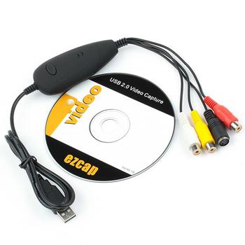 EZCAP172 USB audio wideo Grabber uchwycić konwersji analogowego wideo z kaset VHS 8 MM wideo kamera do rejestracji wideo odtwarzacz DVD wsparcie Win7 8 10 tanie i dobre opinie CN (pochodzenie) Film i telewizja tuner karty