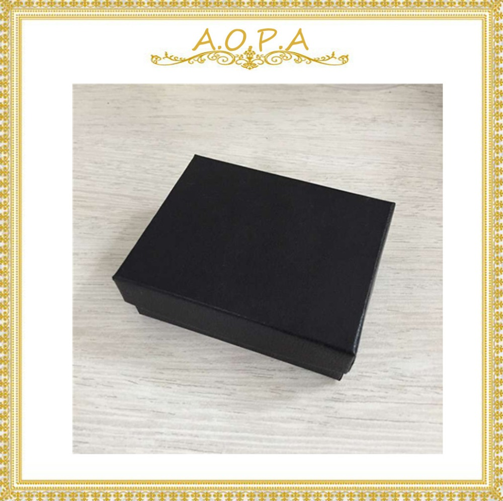 Free Shipping 33 Black 50 pcs Cotton Filled Paper Box For Jewelry Gift Box